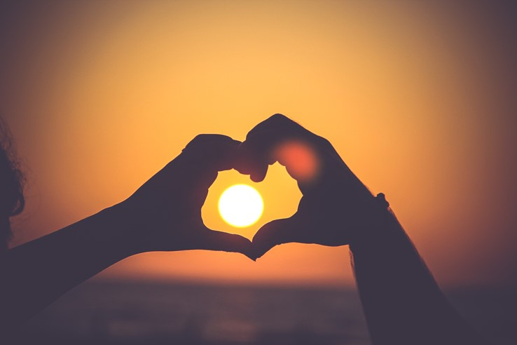 Heart and Sunset