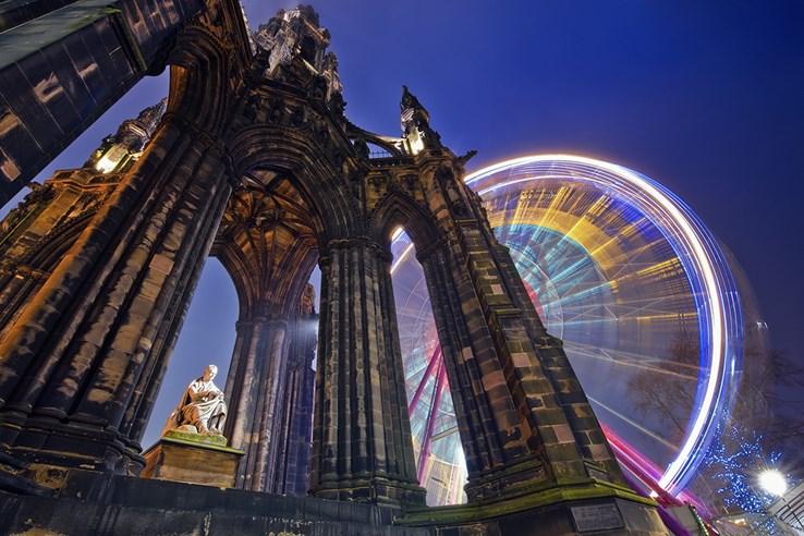 Edinburgh Scott Monument at Christmas