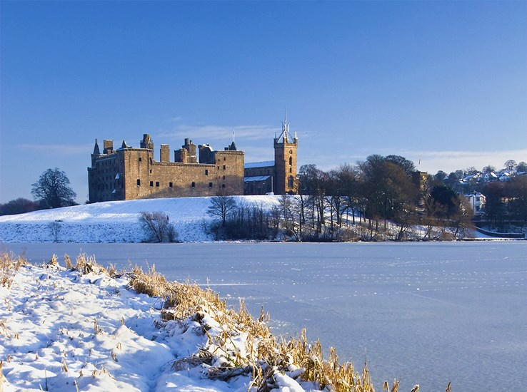 Linlithgow Palace in Winter, West Lothian, Scotland