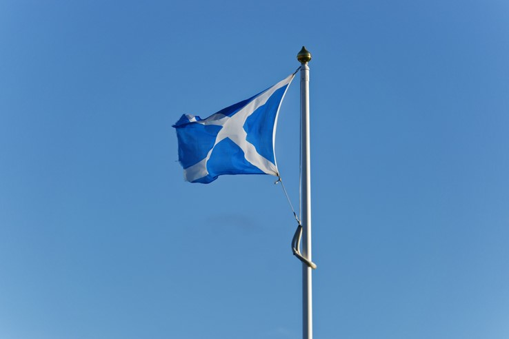 Scottish Flag, The Saltire