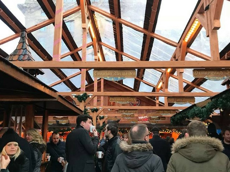 Bavarian Beer Garden in George Square, Glasgow.