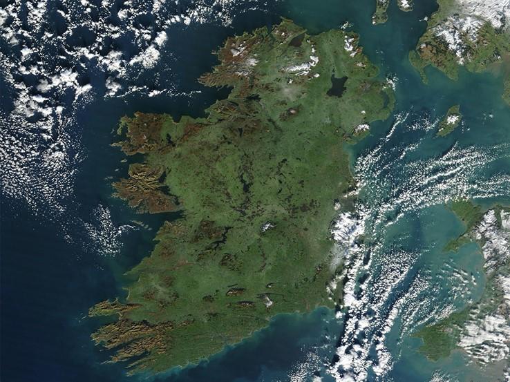 Satellite view of Ireland
