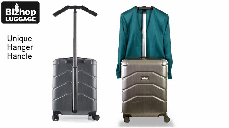 Bizhop Luggage with Unique Hanger Handle